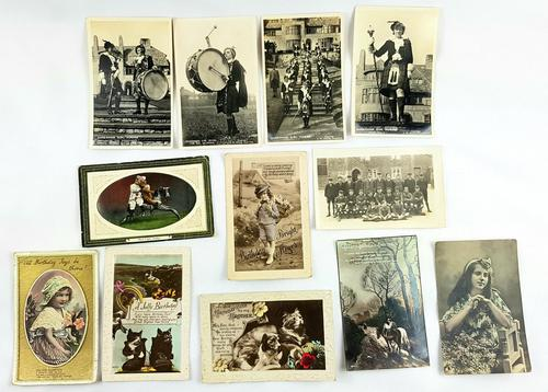 Early 20th Century Photographic Postcards Some Embossed (1 of 2)