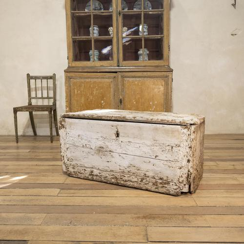 19th Century Rustic Painted Country House Trunk - Coffee Table (1 of 16)