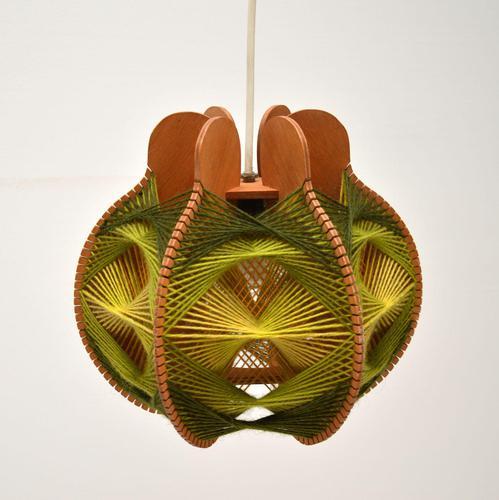 Vintage Spun Wool Pendant / Table Lamp (1 of 6)