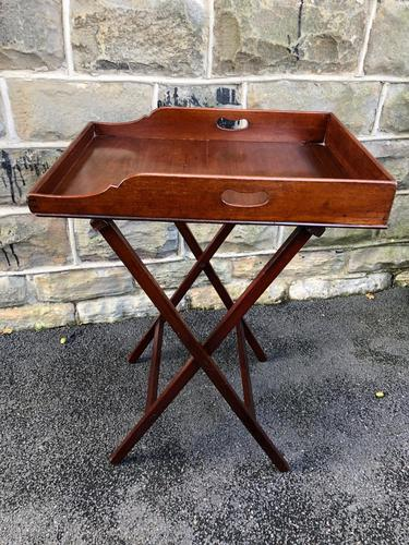 Antique Mahogany Butlers Tray on Stand (1 of 8)