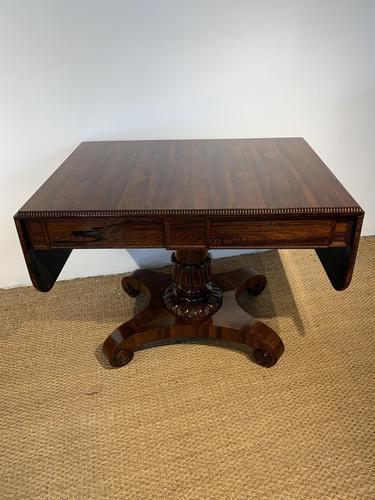 George IV Rosewood Pedestal Sofa Table (1 of 14)
