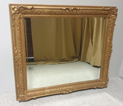 Large English Rectangular  Victorian Gilt Mirror (1 of 8)