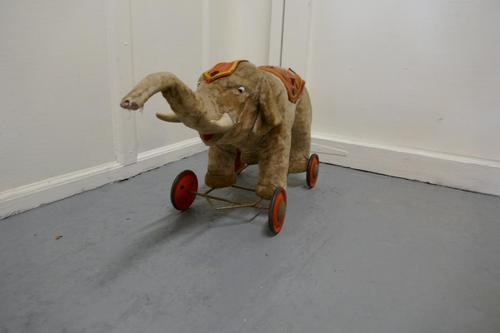 Wonderful Old French Pull Along Circus Elephant (1 of 7)