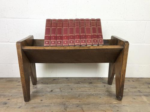 Early 20th Century Wooden Book Trough (1 of 8)