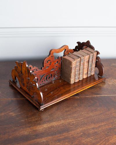19th Century Rosewood Fretwork Bookstand (1 of 5)