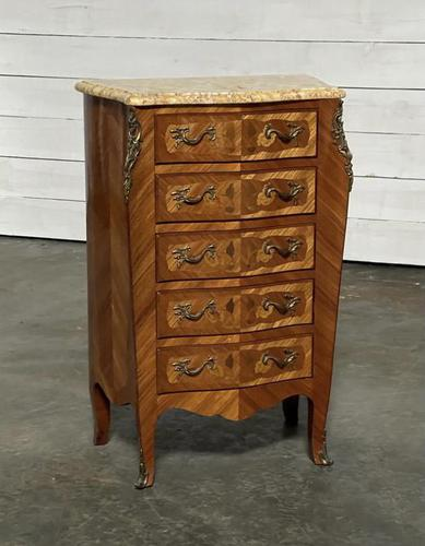 Quality French Marquetry Taller Chest of Drawers (1 of 15)