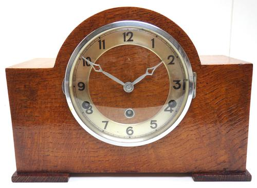 Good Arched Top Art Deco Mantel Clock – Musical Westminster Chiming 8-day Mantle Clock (1 of 11)