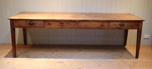 Large French Cherry Wood Farmhouse Table (1 of 9)