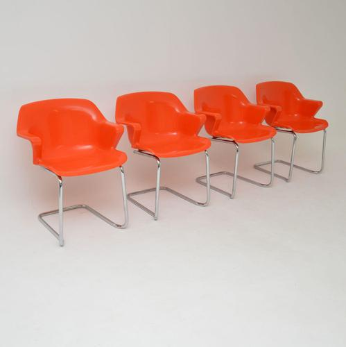 Set of 4 Retro Steelux Dining Chairs by Robert Heritage (1 of 12)