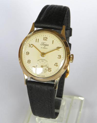 Mid-Size 9ct Gold Trojan Wrist Watch, 1958 (1 of 5)
