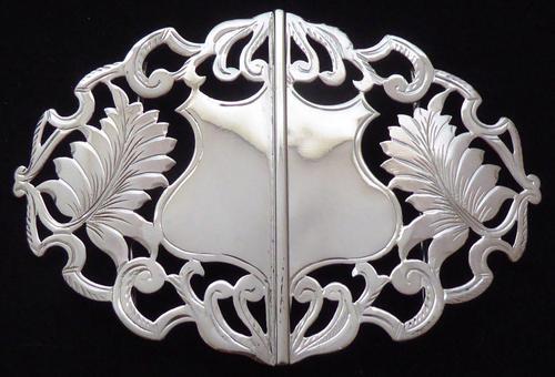 Edwardian Birmingham 1910 Hallmarked Solid Silver Nurses Belt Buckle (1 of 9)