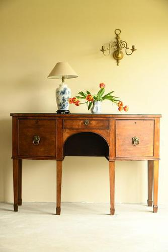 Antique Bow Front Sideboard (1 of 11)