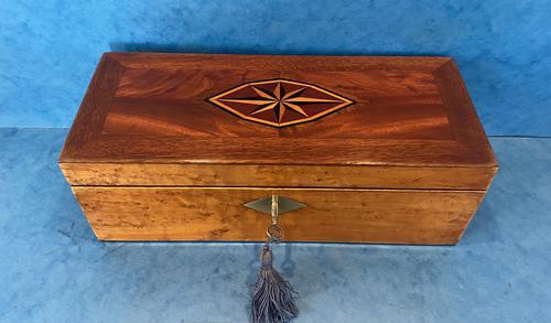 Victorian Burr Maple, Mahogany & Walnut Box (1 of 11)