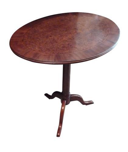 A walnut & burr yew tripod table circa 1830 (1 of 2)