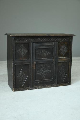 Small Carved Oak Cupboard (1 of 13)