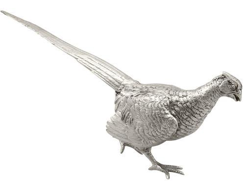 Sterling Silver Table Pheasant - Vintage Elizabeth II 1967 (1 of 12)