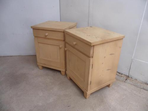 Lovely Pair of Art Deco Pine Bedside Cabinets to wax / paint (1 of 7)