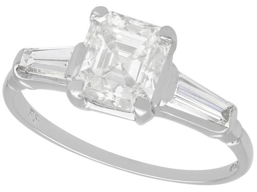 1.75ct Diamond & 18ct White Gold Solitaire Ring - Vintage 1976 (1 of 9)