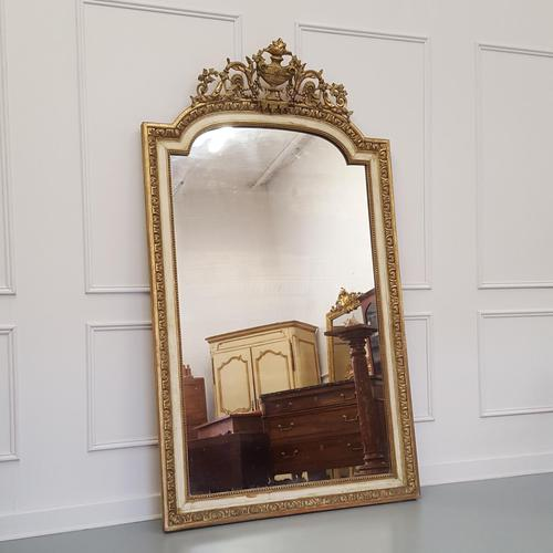 Tall French Antique Mirror c1850 (1 of 9)