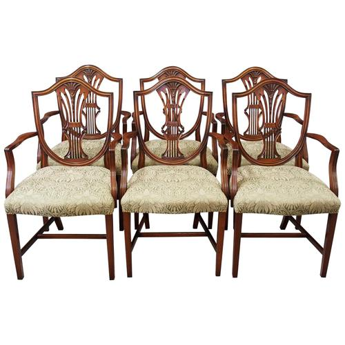 Set of 6 Hepplewhite Style Armchairs (1 of 10)