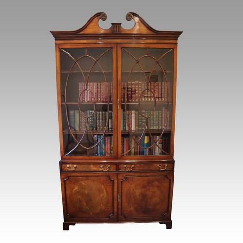George VI Mahogany Library Bookcase (1 of 13)