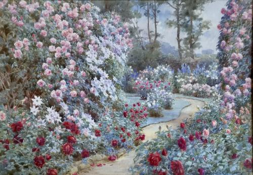 Beatrice Parsons Watercolour 'A Summer Garden' (1 of 2)