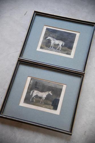 Pair Antique Race Horse Engravings (1 of 11)