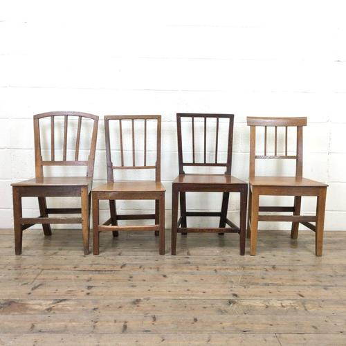 Four Similar 19th Century Stick Back Farmhouse Chairs (1 of 7)