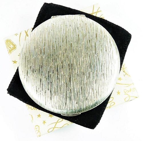 Solid Silver Compact Mirror For Pressed Face Powder (1 of 6)