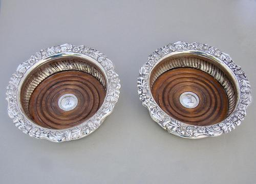 Stunning Pair of William IV Old Sheffield Plate Wine Coasters c.1835 (1 of 5)