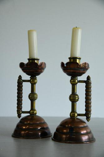 Pair of Christopher Dresser Arts & Crafts Candlesticks (1 of 9)