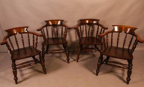 Set of 4 Victorian Captains Chairs (1 of 7)
