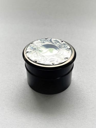 Silver & Ebony Trinket / Studs Pot (1 of 6)