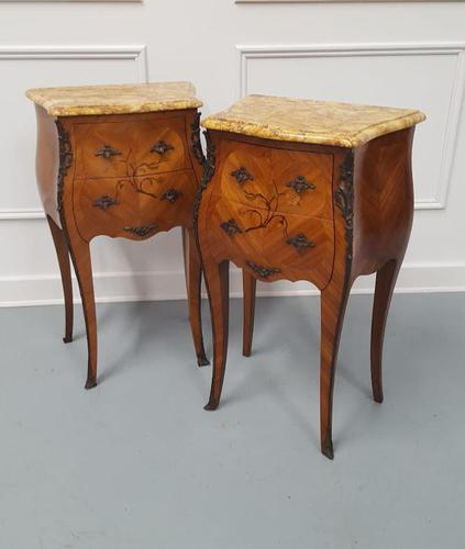 Beautiful Bombe shaped Bedside Cabinets c1930 (1 of 9)