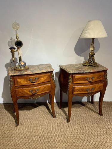 Pair of Marble Topped Bedside Cabinets (1 of 6)