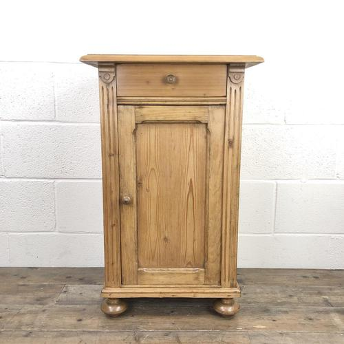 Antique Pine Bedside Cupboard (1 of 8)