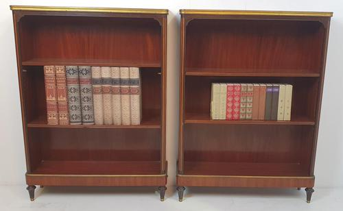 Pair of 19th Century Marble Topped Open Bookcases (1 of 5)
