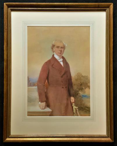 Frederick Cruickshank Fine Watercolour Portrait Painting of Gent (1 of 12)
