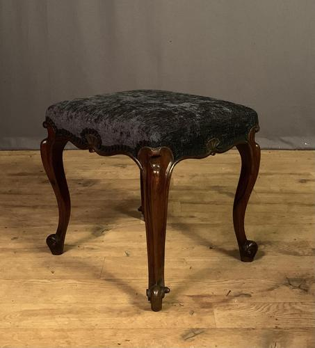 Useful Victorian Rosewood Stool (1 of 11)