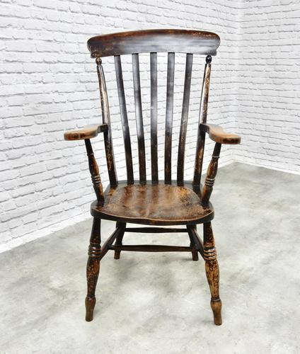 C19th Lathback Windsor Armchair (1 of 5)
