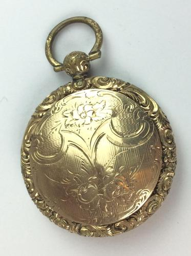 Vintage 9ct '375' Front & Back Hinged Rose & Yellow Gold Locket (1 of 12)