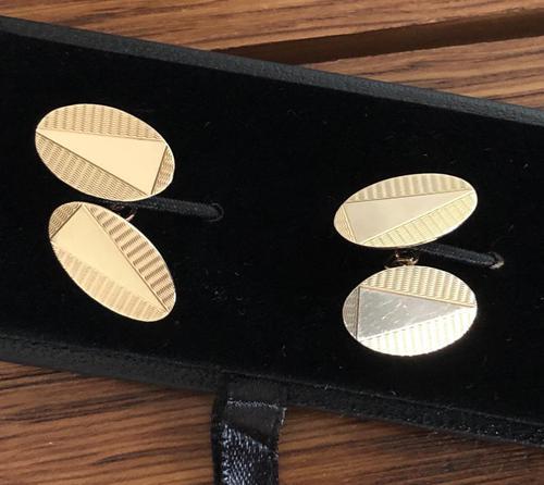 Pair of Art Deco 9ct Gold Cufflinks c.1934 (1 of 3)