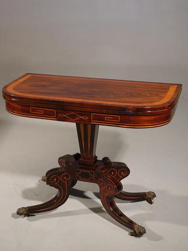 A Very Fine Regency Period Rosewood Card Table (1 of 5)