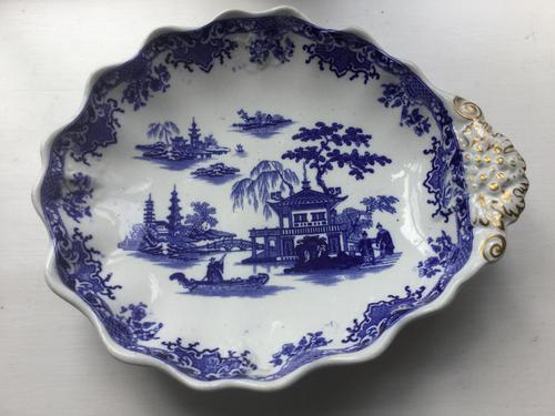 Fell Mid 19th Century Earthenware Blue & White Dish (1 of 3)