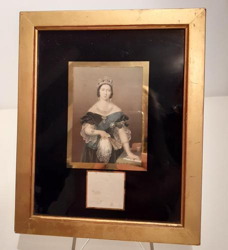 George Baxter Print of Queen Victoria, 1860s (1 of 4)