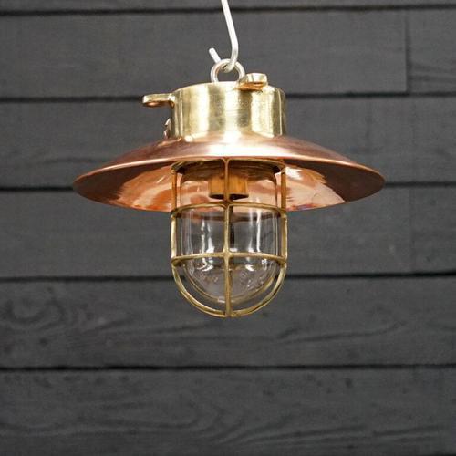Original Ships Brass Passageway Light – Copper Shade (1 of 5)