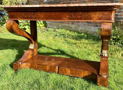 Burr Walnut Console Table (1 of 9)