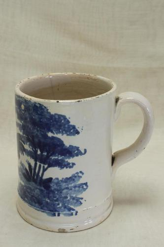 Spongeware Mug Decorated with Rooster (1 of 6)
