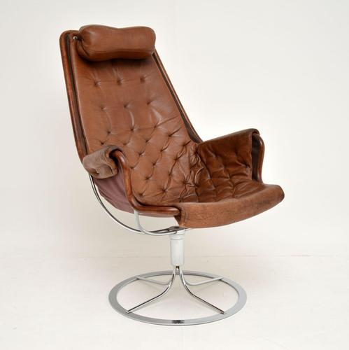 Vintage Leather & Chrome Jetson Chair by Bruno Mathsson for Dux (1 of 11)