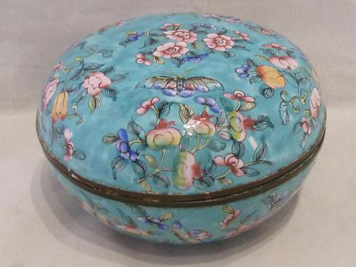 Antique Chinese Large Canton Enamel Box c.1900 - Late Qing (1 of 7)